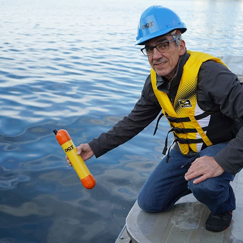 D-Profiler Water Survey Sensor deployed by hand