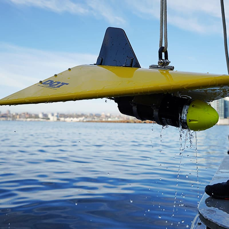 V-Wing Towed Underwater Depressor with sensor attached